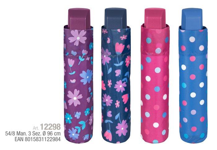Paraguas mujer mini 54/8 manual estampados