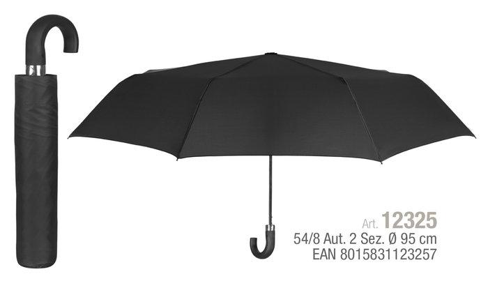 Paraguas hombre plegable 54/8 automatico. negro con mango