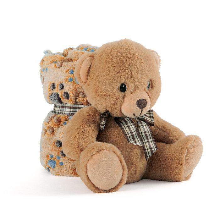 Oso teddy peluche con manta
