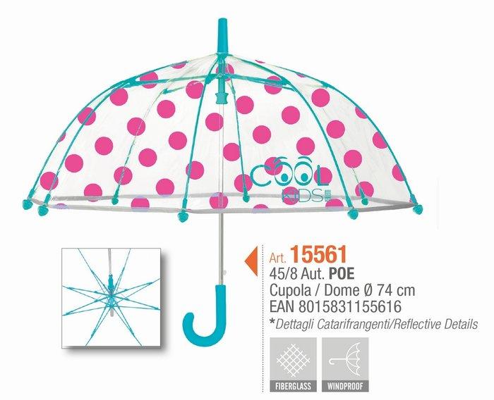 Paraguas bimba 45/8 automatico dome shape pois cool kids