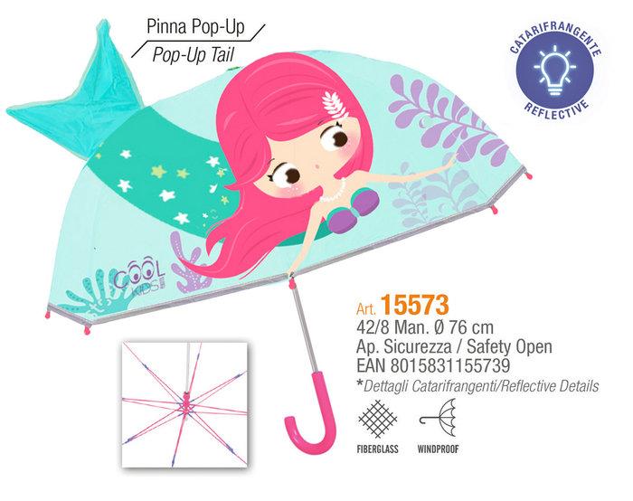 Paraguas niÑa 42/8 manual  sirena