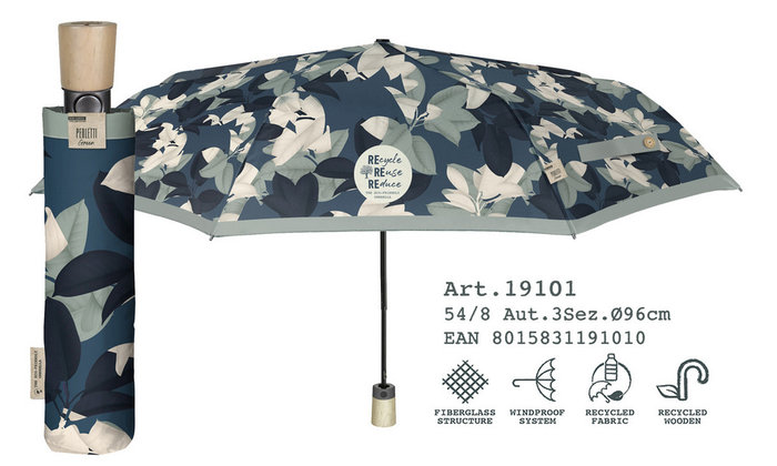 Paraguas mujer plegable 54/8 automatico estampado material r