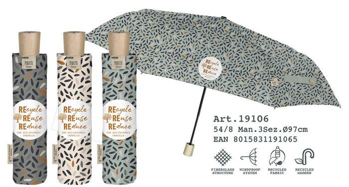 Paraguas mujer plegable 54/8 manual  estampado  material rec