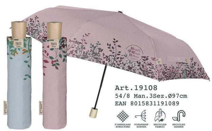 Paraguas mujer plegable 54/8 manual liso material reciclado