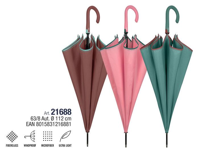 Paraguas mujer 63/8 automatico  ligero color liso