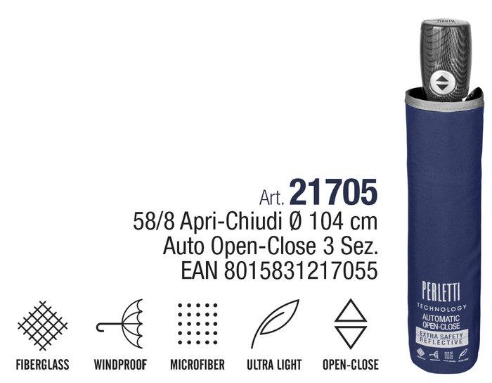 Paraguas hombre plegable 54/8 auto abre-cierra ligero azul b