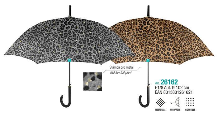 Paraguas mujer 61/8 automatico print leopardo