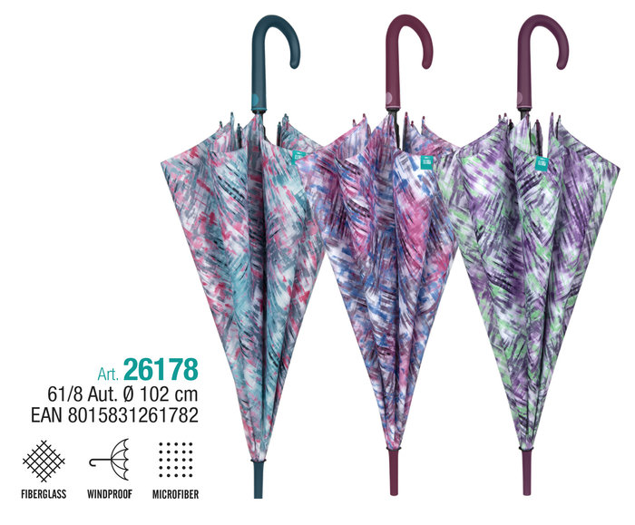 Paraguas mujer 61/8 automatico diseÑo difuminado