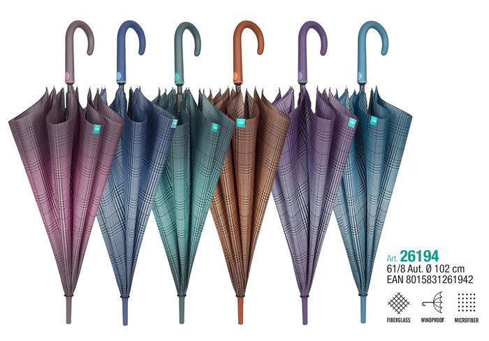 Paraguas mujer 61/8 automatico diseÑo pata de gallo