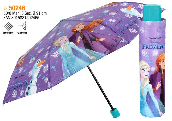 Paraguas infantil plegable 50/8 manual frozen ii