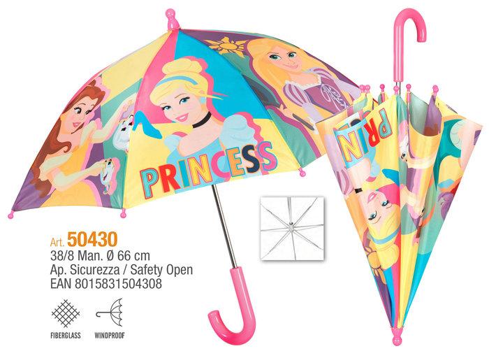 Paraguas infantil 38/8 manual princesas