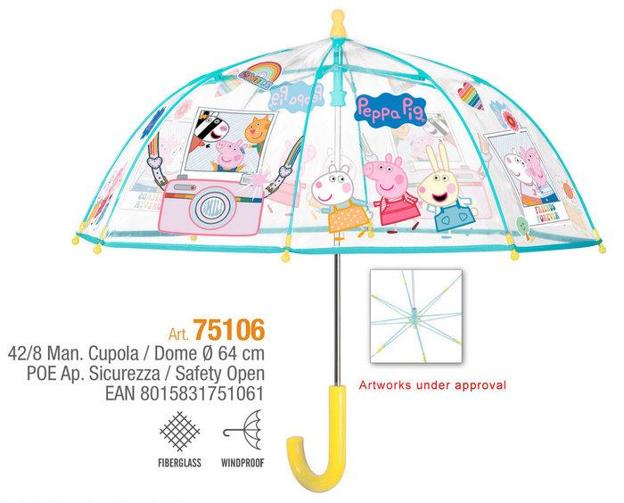 Paraguas niÑa 42/8 manual poe  peppa pig