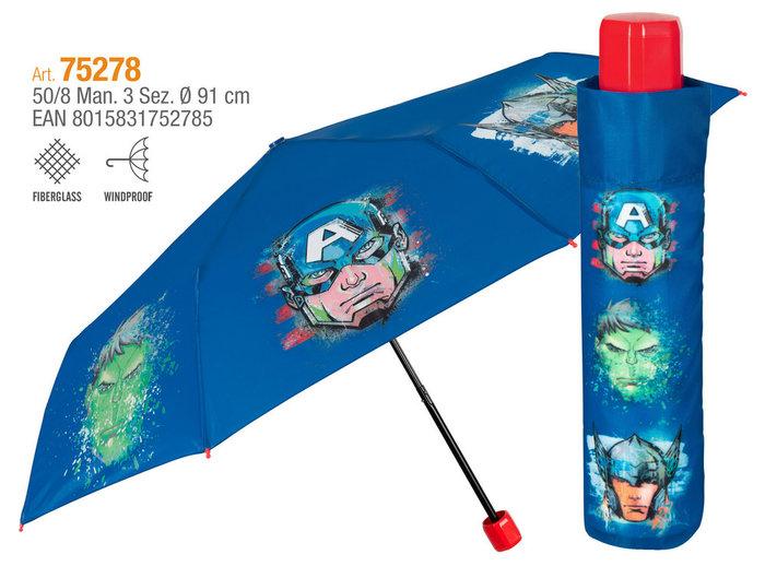 Paraguas niÑo plegable 50/8 manual avengers