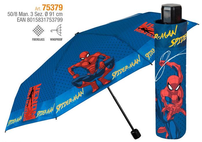 Paraguas niÑo plegable 50/8 manual . spideman