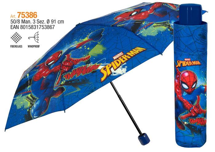 Paraguas infantil plegable 50/8 manual spiderman