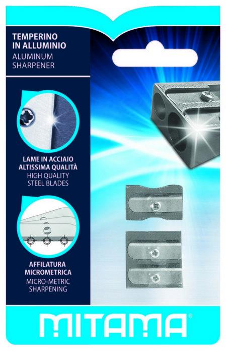 Afilalapiz metal mitama blister 2 uds 1 doble y 1 clasico