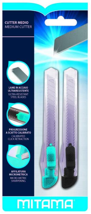 Cutter cuchilla mitama acero ultra resistente blister 2 uds