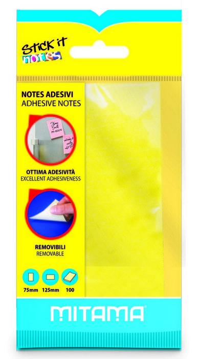 Notas adhesivas mitama 75 x 125 mm 100 hojas amarillo