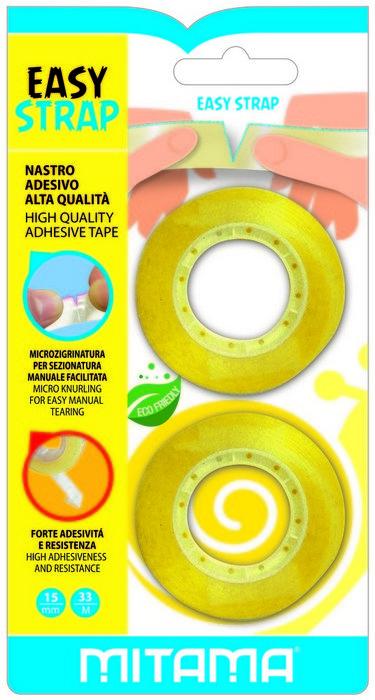 Cinta adhesiva transparente mm 15 x 33 m blister 2 uds