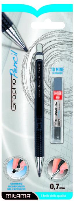 Portaminas 0.7 con 10 minas hb2