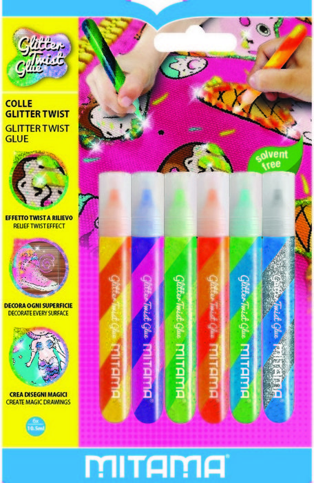 Cola con purpurina mitama 10,5 ml 6 colores