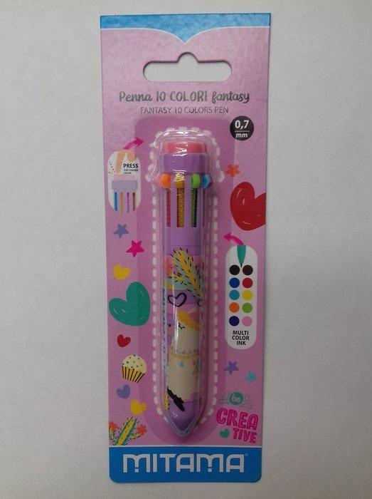 Boligrafo 10 colores blister dibujos surtidos 1+1 gratis