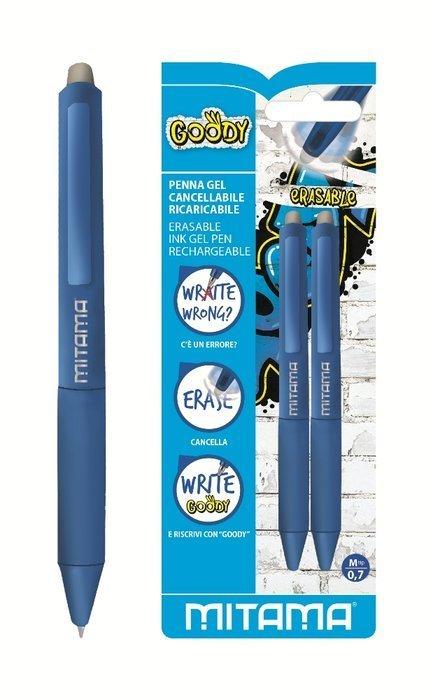 Boligrafo borrable azul goody 1.0mm gel retractil bl 2 ud