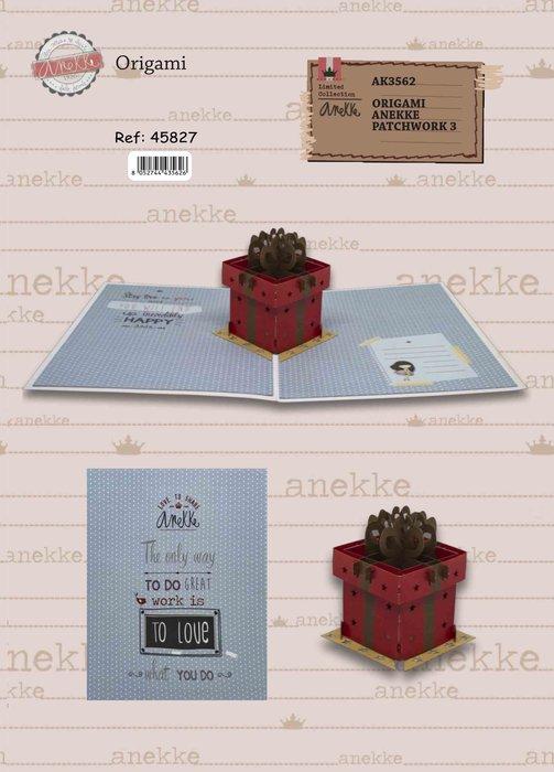 Postal 3d origami anekke regalo