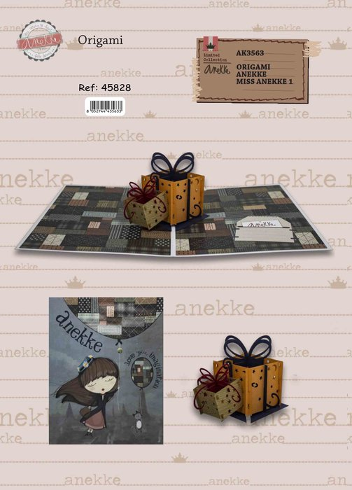 Postal 3d origami anekke regalos