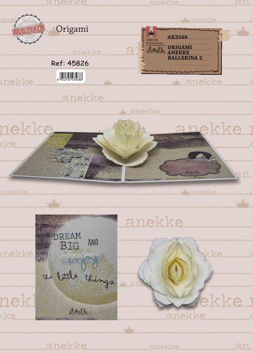 Postal 3d origami anekke flor