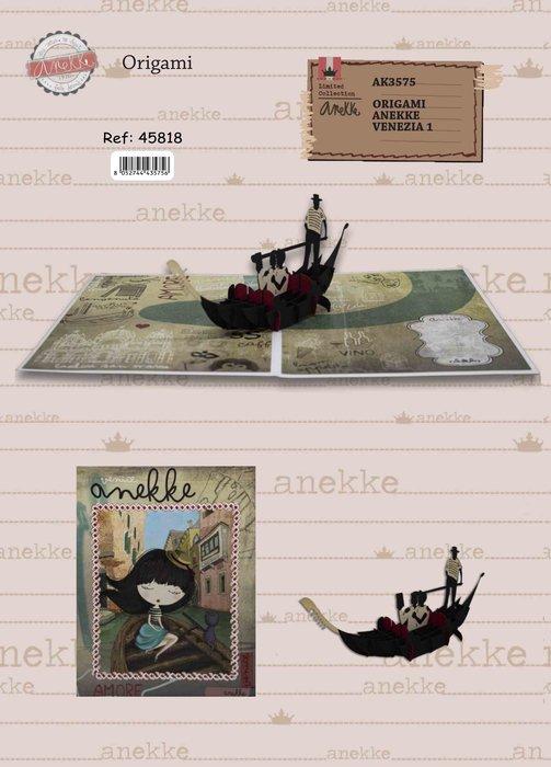 Postal 3d origami anekke gondola