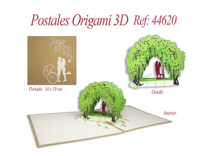 Postal 3d origami parejita