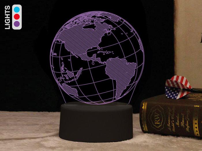 Lampara led 3d mundo