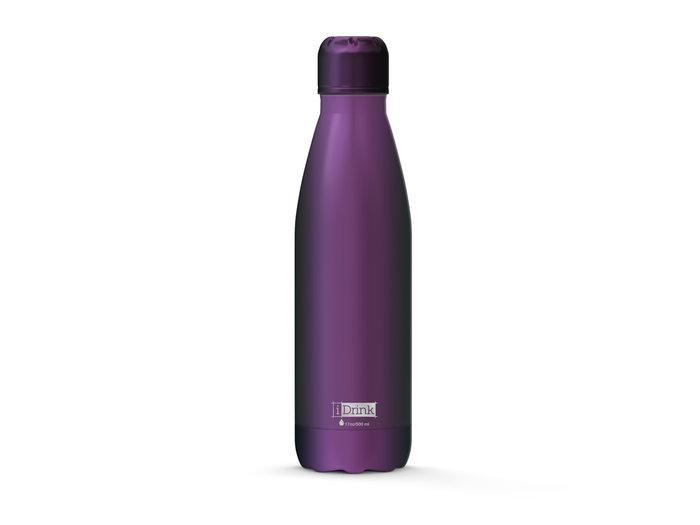 Botella acero inoxidable termica 500ml metalizada purpura