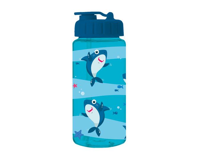 Botella de plastico infantil tritan shark 400ml