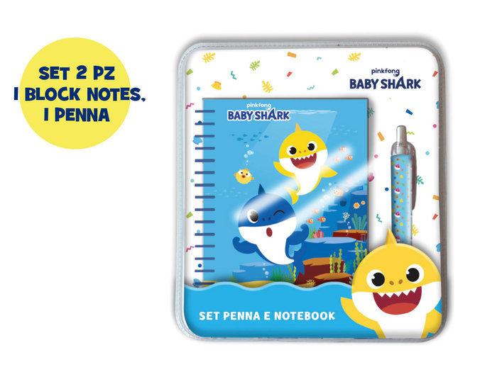 Set cuaderno+boligrafo  baby shark