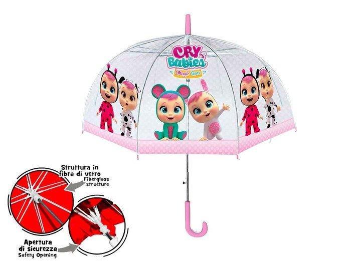 Paraguas bebes llorones transparente 42/8