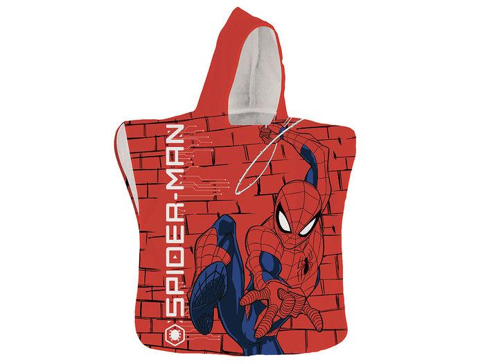 Poncho toalla spiderman