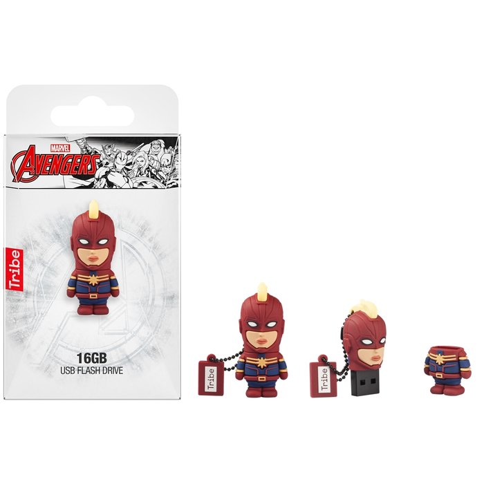 Pendrive 3d 16 gb capitan marvel usb 2.0