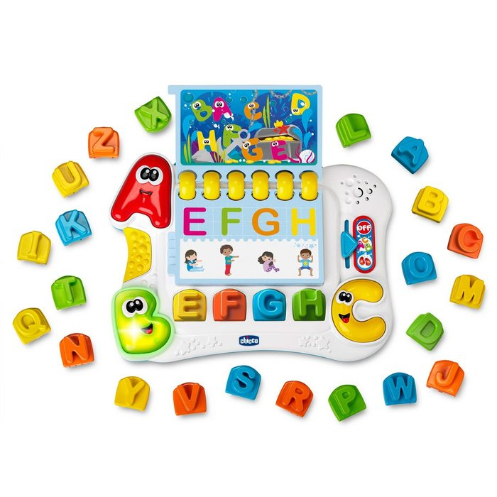 Juego chicco el alfabeto del cuerpo montessori
