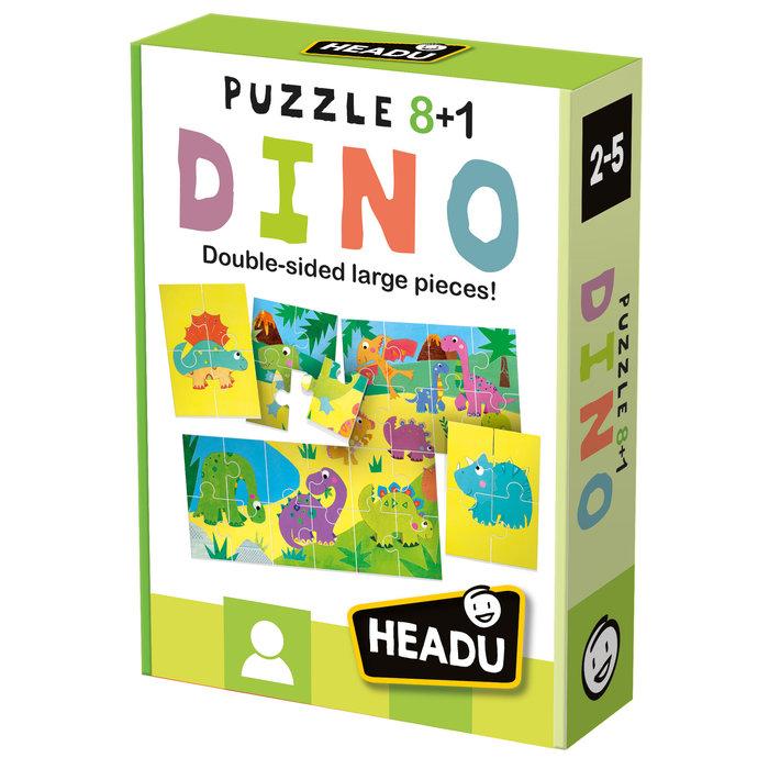 Puzzle headu 8 + 1 dinosaurios
