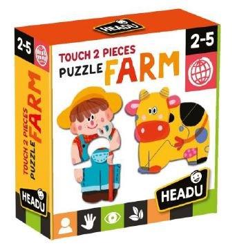 Juego educativo puzle tactiles granja