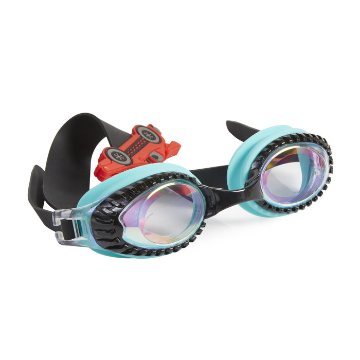 Gafas de buceo drag race retro teal slider