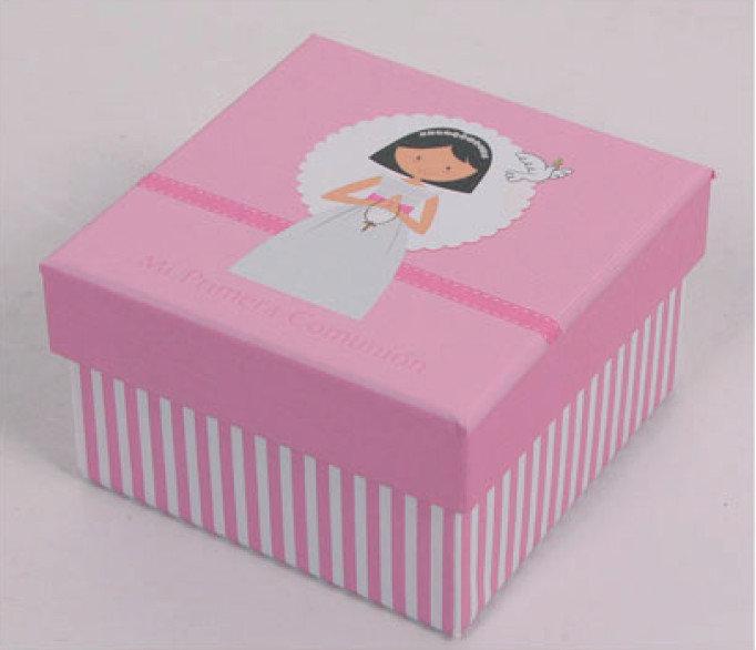 Cajita carton comunion niÑa