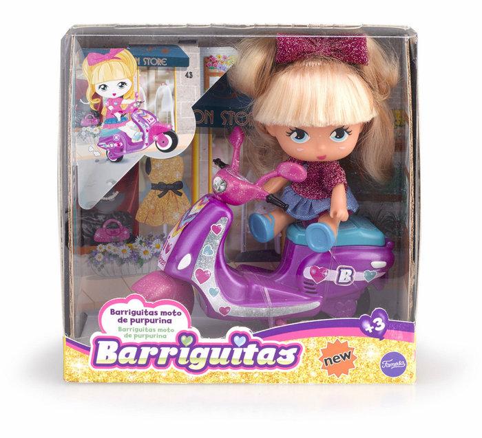 Barriguitas moto de purpurina