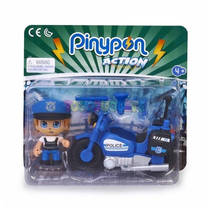 Pinypon action policia con moto