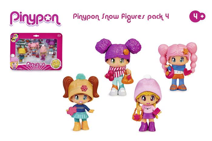 Pinypon. pack 4 figuras nieve