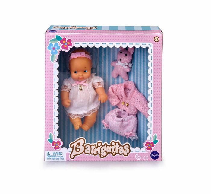 Barriguitas. set de bebe con ropita rosa
