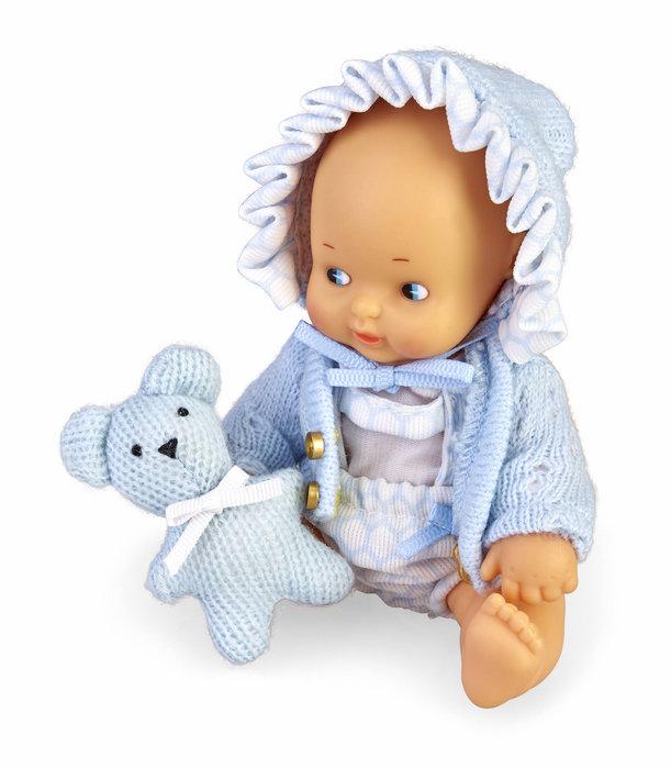Barriguitas. set de bebe con ropita azul