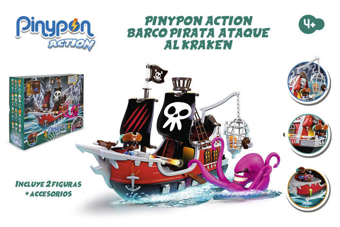 Pinypon action. barco pirata